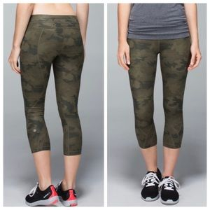 RARE Lululemon Inspire Crop Green Fatigue Camo 4